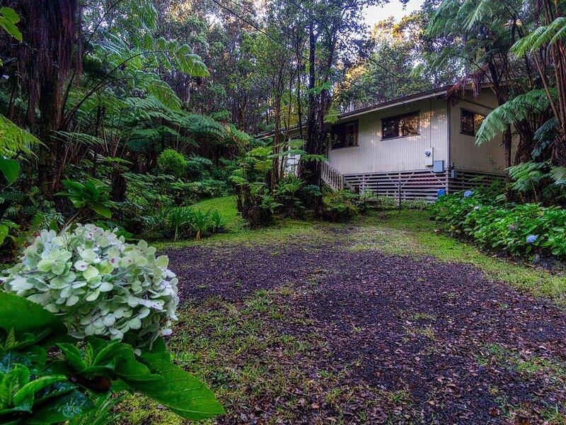 Volcano Village Cymbidium House - Lush Private Setting 3 BR Home, vacation rental in Volcano
