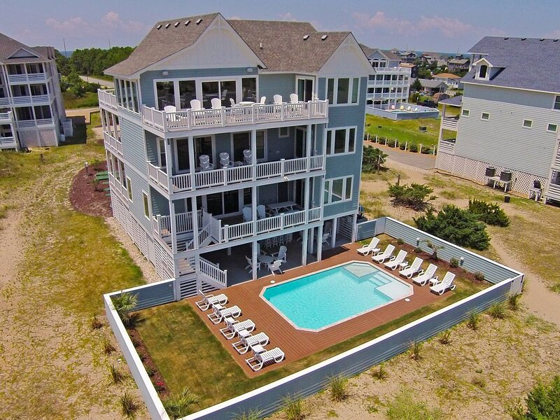 Must See Oceanfront Estate-Elevator, Custom Pool, Theater+Game Rms, Dog-Friendly, vacation rental in Waves