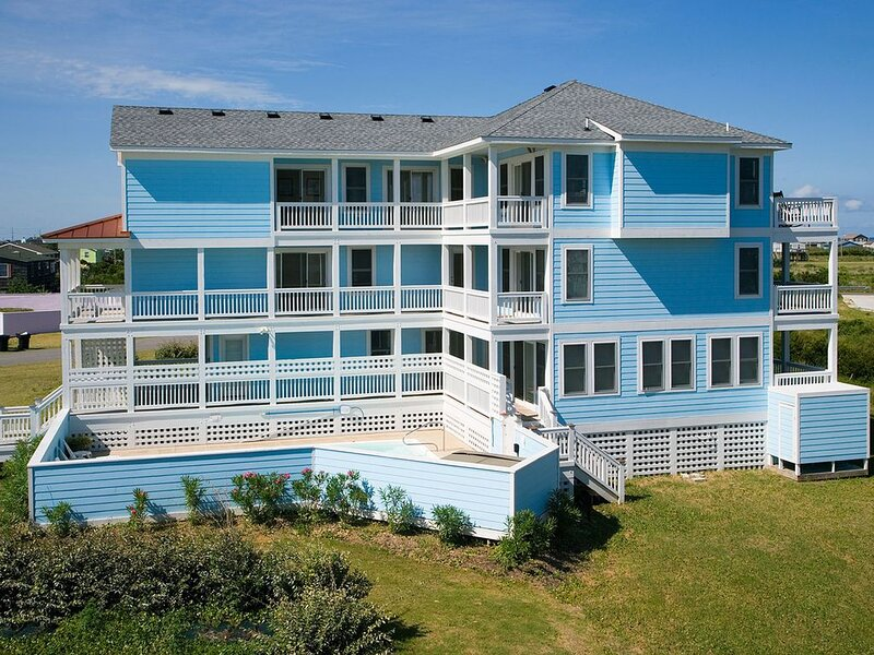 Oceanview Tropical Paradise w/ Elevator, Pool, Hot Tub, Game Rm, Relaxing Views, holiday rental in Rodanthe