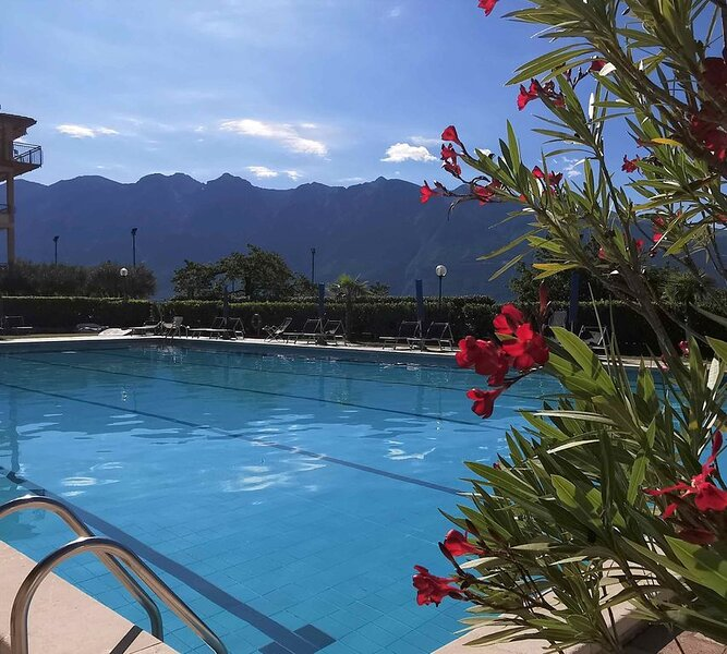 Apartment, 2 bedrooms, sea view, terrace and balcony, holiday rental in Lake Garda