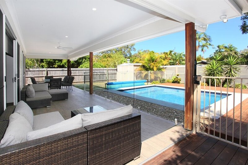 Outdoor entertaining and pool