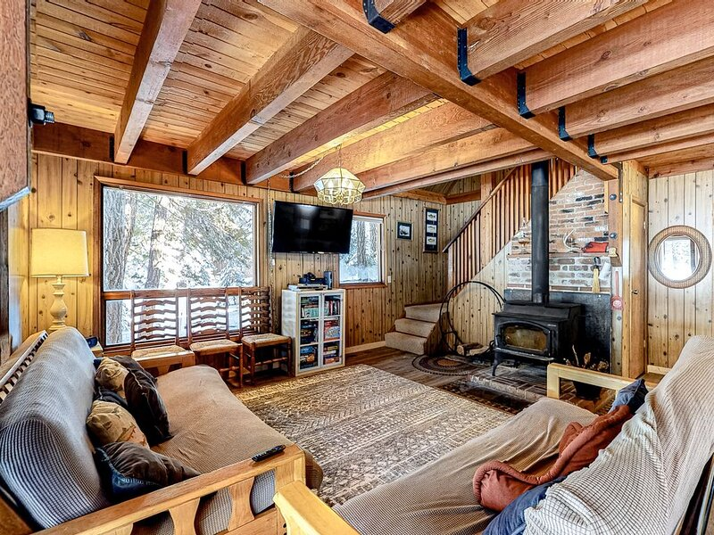 Cozy, family-friendly cabin near the slopes - enjoy spectacular starry skies!, holiday rental in Floriston