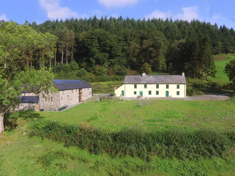 Perfect for a large group of friends or family these 2 cottages are about 1.5 mi, vacation rental in Llanwrtyd Wells
