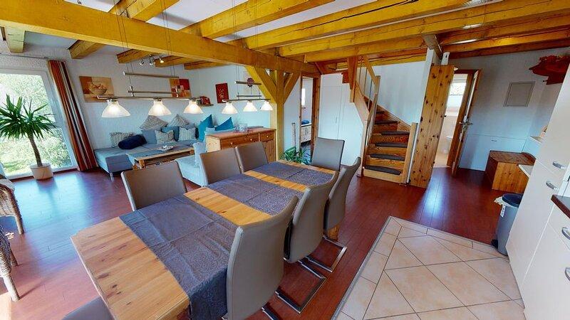 4 Sterne Ferienwohnung M2 in der Wassermühle mit Pool und Sauna, casa vacanza a Wendtorf
