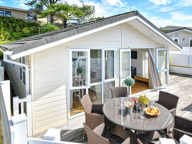 Boasting a fabulous private decking approached through patio doors from the cont, vacation rental in Llanbedrog