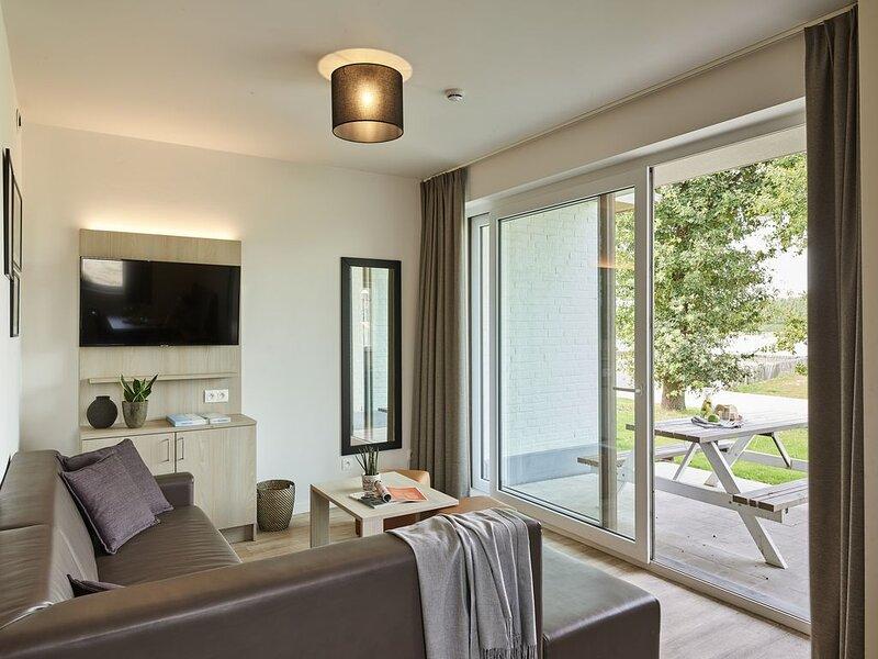 Cet Holiday Suite tout confort pour 6personnes comporte un agréable salon, 3ch, alquiler de vacaciones en Jabbeke