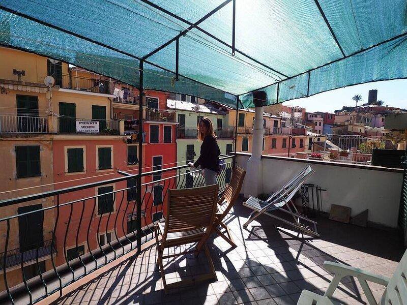 Ca D'Axeu Appartamento Tradizionale con 2 camere e ampia terrazza, holiday rental in Vernazza