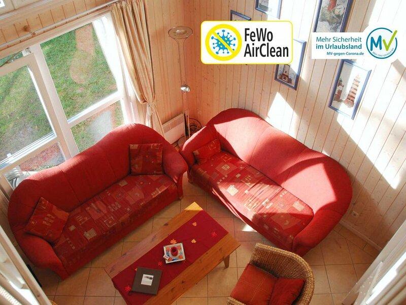 Ferienhaus Panama: Komforthaus im Dünenwald mit Meerblick, location de vacances à Ile de Rügen