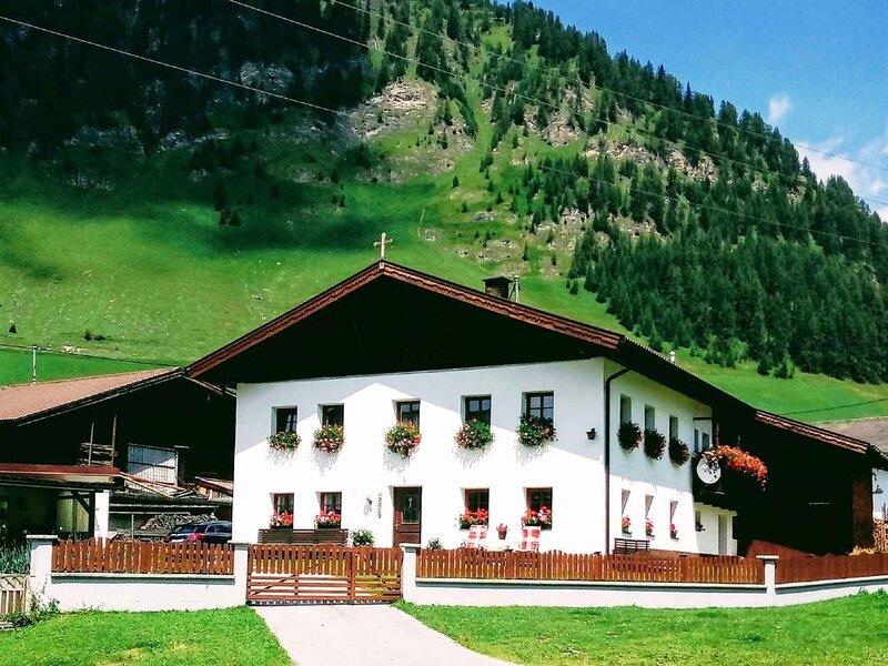 Ferienwohnung mit Internetverbindung und Kinderspielplatz auf dem Bauernhof, casa vacanza a Matrei am Brenner