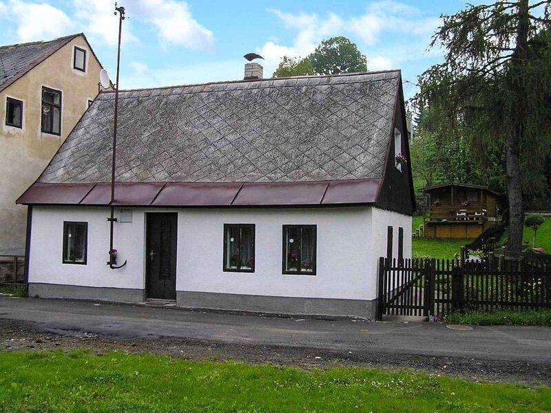 Ferienhaus mit Kamin im Skiort, casa vacanza a Kraslice