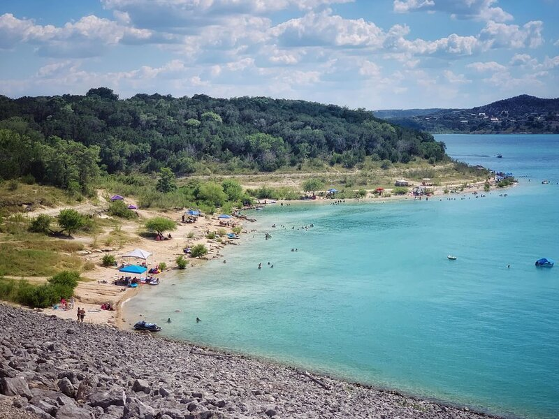 Beautiful view of Canyon Lake
