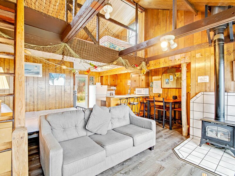 Cozy and oceanfront dog-friendly cabin on the beach with views!, holiday rental in Moclips
