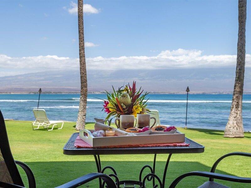 Maui Ground Floor, Just Steps To The Ocean! with Central A/C! *Maalaea Kai 101*, Ferienwohnung in Wailuku