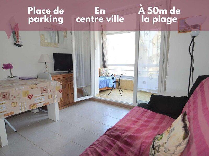 Appartement avec loggia ☀ Proche centre et plage, location de vacances à Ver-sur-Mer