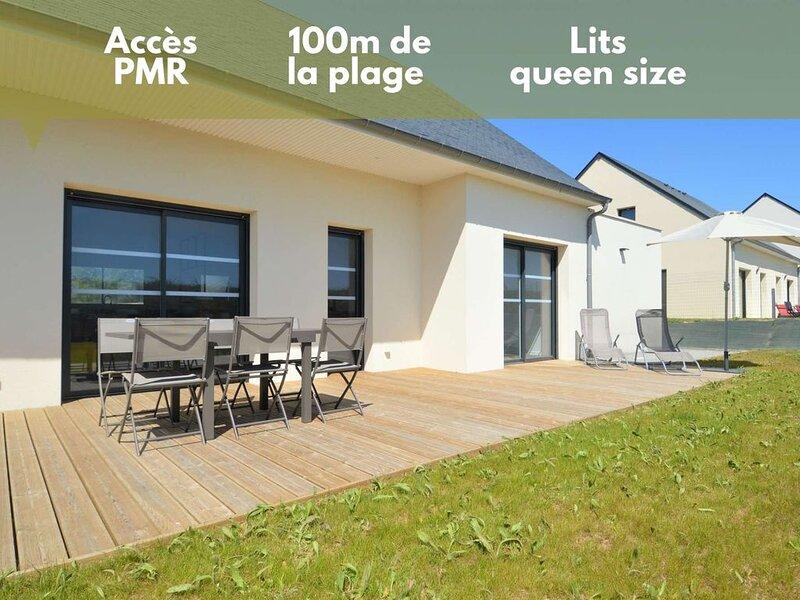 Maison proche de la mer ☀ Avec jardin - PMR, holiday rental in Le Manoir