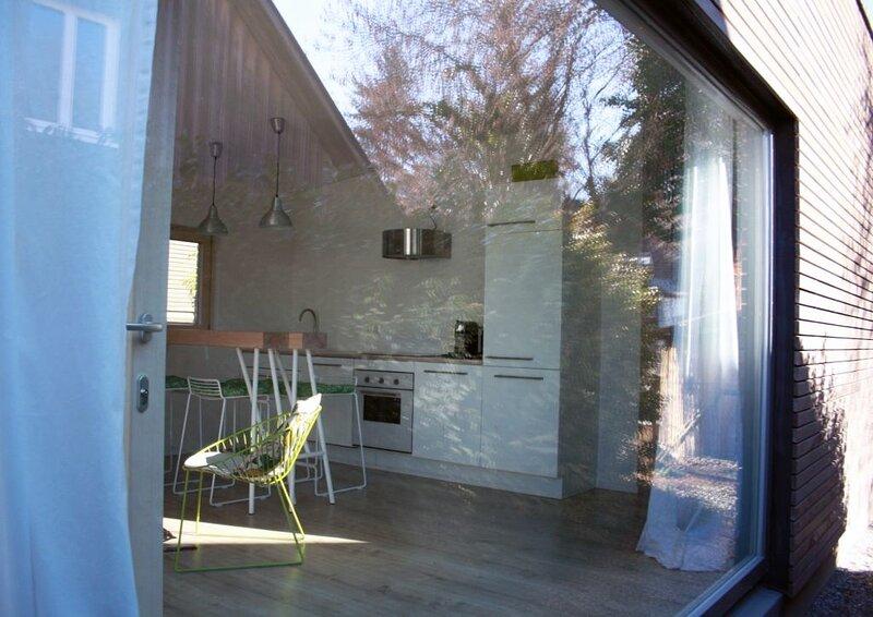#Ferienhäuser DesignÖko Bodensee, ecodesignstudios, Holzbungalows, holiday rental in Mengen