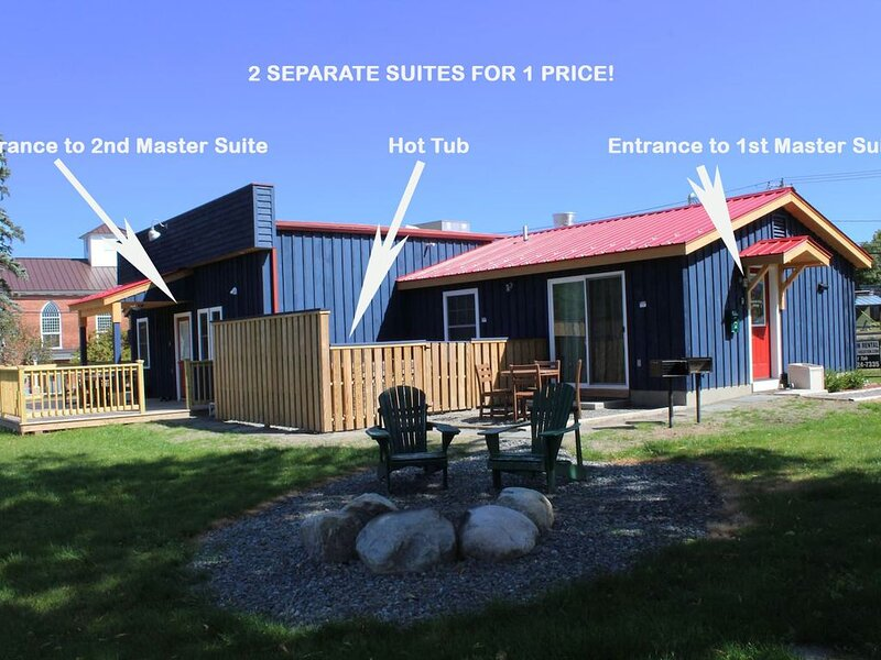 Hot Tub, 2 Separate Suites for 1 Price, Dog Friendly, Mountain Views, Lake:  MVC, holiday rental in Wilmington
