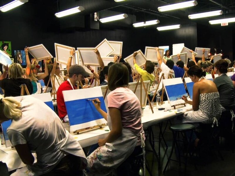 Plan a night painting and wine drinking at Sips N Strokes!