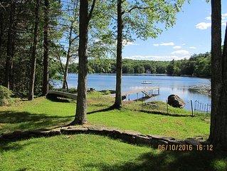 Lakefront Vacation Home on Pristine Leadmine Pond -- Brimfield Fair Special!