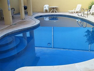 Fabulous duplex near the beach& boast a large pool