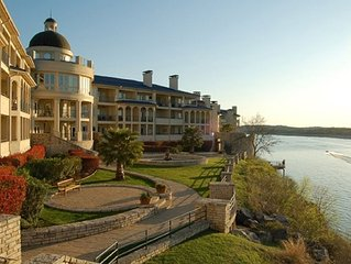 This cozy 1 bedroom condo is located on the The Island on Lake Travis.