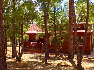 SWEET, IMPECCABLE CABIN IN THE PINES ! 1 BEDROOM + LOFT! 2 QUEEN BEDS!
