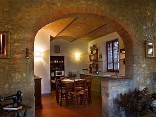 Charming hamlet in the heart of Chianti, between Florence and Siena