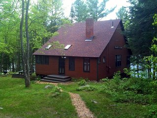"""""""Sunset Lodge"""" a  Maine lakefront cottage with additional guest house"""