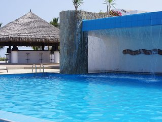 One of the Club House pools with water fall