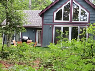 Maine lakefront rental, swim, canoe, fish, unplug.