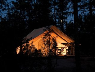 GLAMP RICHARD: CANVAS CABIN ON PRETTY FARM