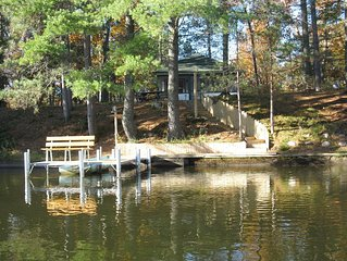 MANITOWISH CHAIN of10 LAKES-25' fr Watr,Boat,PierWbench,ScrPorch,TV,FrNetflixWiF