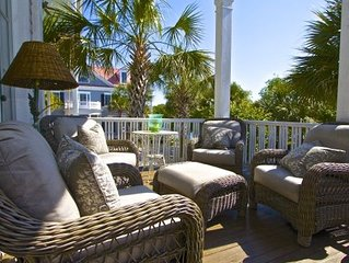 airy beautifully furnished 5 bedroom  house located 10 min. from charleston