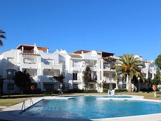 Beach Side Apartment With A Pool And Beautiful Gardens