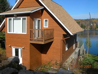 Lake Front Chalet at 30 min. from Mont-Tremblant