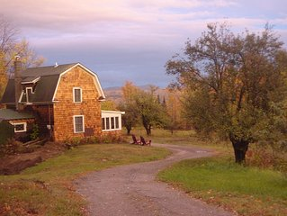 RESTORED HISTORIC ADIRONDACK CAMP: VIEWS OF NEARBY GORE MOUTAIN, PRIVACY, HISTOR
