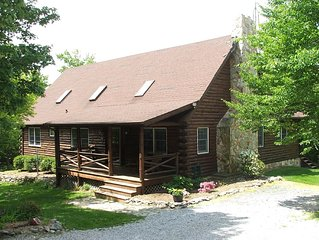 Beautiful Log Home In Woods, Close To DC, Baltimore, Gettysburg, Hiking Trails