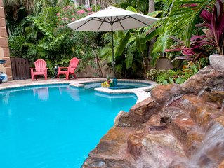 Luxury Anna Maria Island Home w/Private Pool, Waterfall; 3 Bedrooms/3 Full Baths