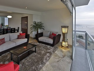 Huge Flat, Spectacular View On Lima Bay, Calm, Secure Neighbourhood, Centric