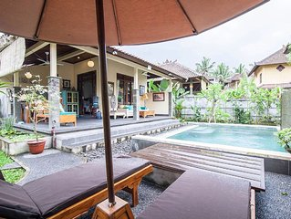 Gardenia Bungalow /Ubud/Pool/AC/Hi Spd Internet