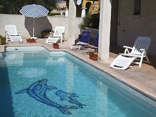 Attractive apartment with private garden and pool, situated in 17C village