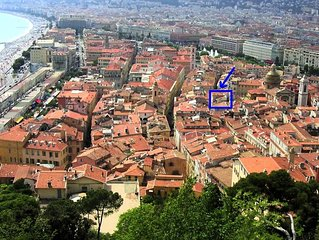 Apartment/ flat 2 rooms - NICE old city XIIo century barocco Palace, 150M seasi