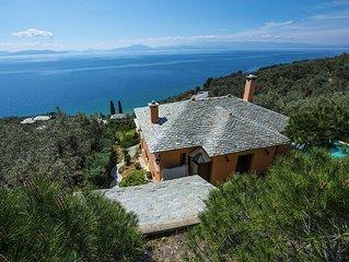 PELION HOMES | 2 CYPRESSES villa w/ swimming pool 150m from the sea