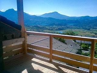 Superb Gite with Stunning Views nr. Market Town, Swimming Lake, Walks & Cycling