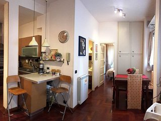Very well connected. Situated 2.9 km from Trastevere. very quiet and green