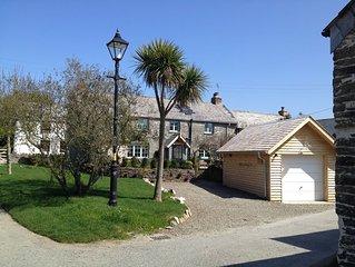 Luxury stone cottage sleeps 6, tucked away in quiet farming village near Padstow