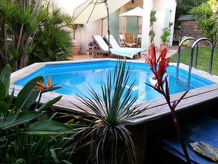 Villa 127m2- 3 chambres avec jardin 550m2-2 terrasses-piscine-plage 600m-VAR-83