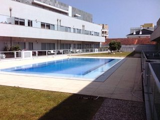 Apartment with pool at the beach, near Porto
