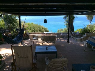 Villa Agave in Pisciotta-Palinuro with panoramic views and private access to th