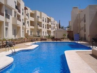 Golf and beach apartment, Ground Floor, Sea view, Air Conditioned  & Wi fi